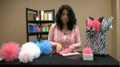 How To Make Tulle Poms, via YouTube.