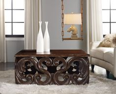Home Furniture | Living Room Accent Furniture | Melange | Jaxon Cocktail Table - By Hooker Furniture