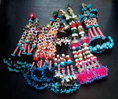 Vintage tribal tassels salvaged from Baluch textiles and clothing are perfect for any tribal belly dance costume. Silk Road Tribal.