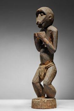 Lot n°55  Baule Monkey Art Handlers, Ivoire, Tribal Art, Contemporary Art, David, Statue, Wood, Collection, Woodwind Instrument