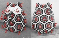 Image result for free crochet african flower owl pattern