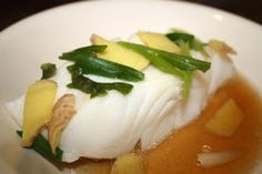 Steamed Fish with Ginger and Scallion