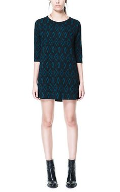 QUILTED PRINTED DRESS