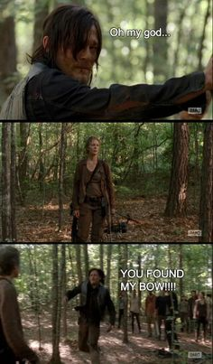 Daryl reunites with his bow..