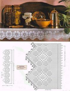 Gráficos Crochet Dollies, Crochet Lace Edging, Crochet Motifs, Granny Square Crochet Pattern, Crochet Borders, Thread Crochet, Crochet Granny, Crochet Flowers, Crochet Patterns