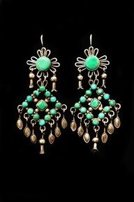 Turquoise earrings from a selection at www.jessiewestern.com ..we love earrings and have a huge selection in store .