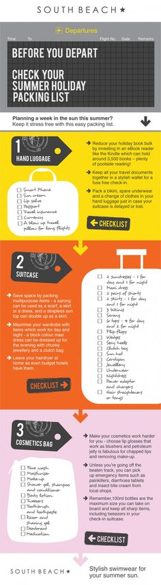 Summer Holiday Packing List Infographici agree with most of this , but some I dont really like