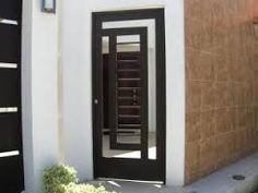 Puerta de herreria minimalista buscar con google for Portones de entrada principal