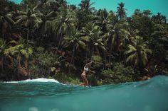 Surfin' through those Sri Lanka waves with Malia Murphey