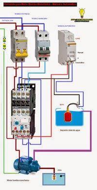 Esquemas eléctricos: Comando para motor bomba monofasico manual/automat...