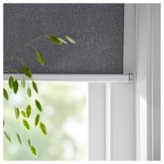 FYRTUR Blackout roller blind - wireless, battery operated gray (CA) - IKEA App Store, Electric Blinds, Apple Homekit, Ikea Home, Blinds For Windows, Blinds Curtains, Bedroom Blinds, Roller Blinds, Kit Homes