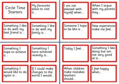 KS1 and KS2 PHSE Circle Time Starters Idea Cards for Primary School Pupils