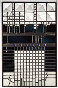 Schaffrath, Ludwig (German, 1968 Corning Museum of Glass Modern Stained Glass, Stained Glass Panels, Stained Glass Art, Mosaic Glass, Art Nouveau, Corning Museum Of Glass, Leaded Glass Windows, Ludwig, Black And White Design