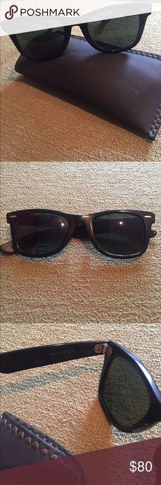 3973f114888 BL Ray-Ban Wayfarer vintage sunglasses Vintage black frame sunglasses