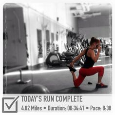 Awesome FitSnap picture of a run! FitSnap is a free iPhone app that creates inspirational pictures from your workouts. Download it today from the App Store!