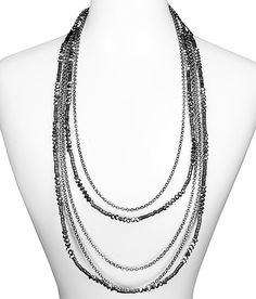 BKE Tiered Bead Necklace
