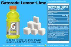 Gatorade Lemon-Lime Sugar Content, How much sugar in Gatorade How Much Sugar, Lemon Lime, Cholesterol, Drink Bottles, Vitamins, Content, Vitamin D