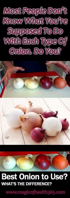 Video: Most People Don't Know What You're Supposed To Do With Each Type Of Onion. - Fitness, Nutrition, Tools, News, Health Magazine Types Of Onions, Cooking Tips, Cooking Recipes, Healthy Soup Recipes, Healthy Tips, Healthy Facts, Delicious Recipes, Kitchen Hacks, Kitchen Stuff