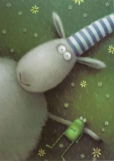 Russell the Sheep by Rob Scotton.  I don't know much about this sheep and his froggy friend, but I do know that they make me smile.