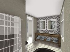 color scheme possibly for upstairs bathroom or keep same as downstairs