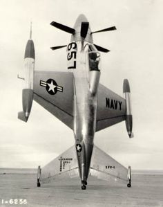 Lockheed XFV-1 Pogo Stick, 1954. It could take off and land vertically.