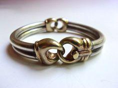 Italian Flexible Hinge Sterling Silver Bracelet by RenaissanceFair