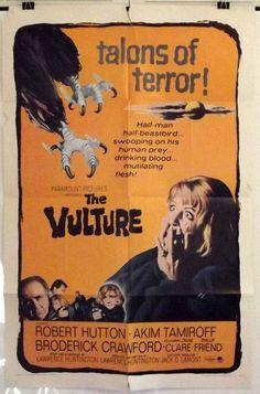 THE VULTURE - ROBERT HUTTON / DIANE CLARE - ORIGINAL AMERICAN 1SHT MOVIE POSTER