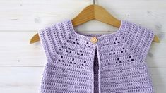 How to crochet a cute baby cardigan / sweater - the Lavender cardigan