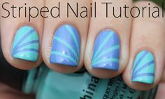 Canvas Nails: Striped Tape Tutorial