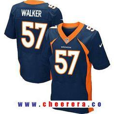 Men's 2017 NFL Draft Denver Broncos #57 DeMarcus Walker Navy Blue Alternate Stitched NFL Nike Elite