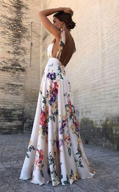 Sexy New Backless Floral Print Maxi Dress – modevova floral outfit summer,floral print dress, pretty dresses, floral formal dress, Robes Dos Nu Maxi, Pretty Dresses, Beautiful Dresses, Awesome Dresses, Backless Maxi Dresses, Long Dresses, Dresses Dresses, Beach Dresses, Sexy Maxi Dress