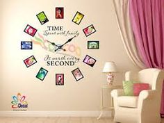 Image result for family tree wall decal Family Photo Frames, Picture Frames, Picture Walls, Vinyl Wall Stickers, Wall Decal Sticker, Photo Frame Layout, Family Tree Wall Decal, Family Clock, Wall Decor Pictures