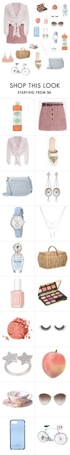 """spotted picnic"" by taylor-satan ❤ liked on Polyvore featuring Temperley London, Marc Jacobs, Axenoff Jewellery, Michael Kors, Bloomingville, Essie, Too Faced Cosmetics, tarte, Alinka and Wedgwood"