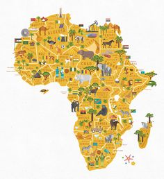 Africa Map with Countries, Map for Kids African Map, African Theme, African Safari, Africa Decor, Maps For Kids, Animal Activities, Safari Theme, Map Design, African Animals
