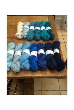 #debonnaireyarns Hand dyed gradient sock yarns