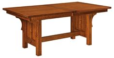 Brunswick Trestle Dining Table :: Dining Tables :: Tables :: Shop By Type :: Amish Furniture Factory