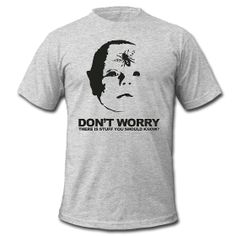Don't Worry Men's T-Shirt by American Apparel. Design by Suki Anderson