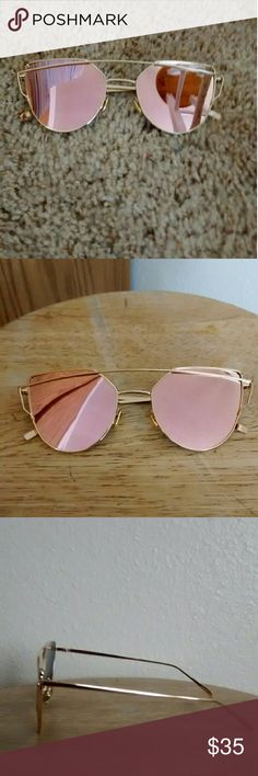 Rose Gold Sunglasses These sunglasses are brand new and have no flaws. PRICE FIRM! :) Accessories Glasses