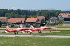 Patrouille Suisse, Swiss Air Force Demo Team Swiss Air, Top Gun, Air Force, Fighter Jets, Aircraft, Explore, Stunts, Switzerland, Heels