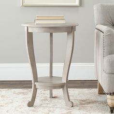 Cape Cod Grey Pedestal Side Table | Overstock.com