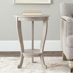 Cape Cod Grey Pedestal Side Table   Overstock.com