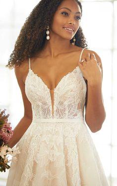 Soft Boho-Inspired A-Line Wedding Dress - Martina Liana