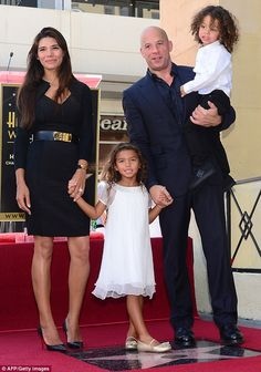 Proud family: Vin Diesel was joined by model girlfriend Paloma Jiminez and the couple's daughter and son as he was honoured with his very own star on the Hollywood Walk of Fame. Vin Diesel, Diesel Fuel, Celebrity Baby Names, Celebrity Babies, Celebrity Gossip, Beautiful Family, Beautiful People, Amazing People, Fast And Furious Cast