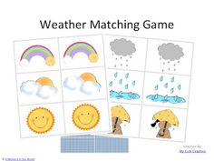 Printable Weather Game Matching Cards Free printable weather matching game Print or make pairs of weather cards for a great memory/matching game!Free printable weather matching game Print or make pairs of weather cards for a great memory/matching game! Preschool Themes, Preschool Science, Science Experiments Kids, Classroom Activities, Preschool Crafts, Preschool Printables, Preschool Classroom, Science Education, Matching Games For Toddlers