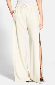 T by Alexander Wang Side Slit Wide Leg Track Pants available at #Nordstrom