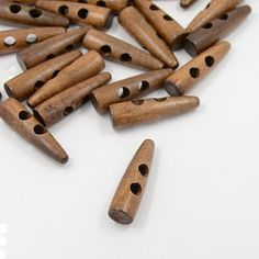 Perfect for finishing #cowls #sweaters #handbags Jumbo Toggle Buttons Dark Wood  10 pieces B31A by LindsayStreemDIY, $7.00 #chunkybuttons #woodenbuttons #crochet #knit #sweaterbutton