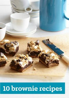 10 Brownie Recipes – When it comes to easy chocolate recipes, brownies pretty much take the cake! Bring the kids into the kitchen and get creative—the brownie possibilities are endless.