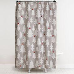 Winter Wonderland 70-Inch x 72-Inch Shower Curtain and Hook Set