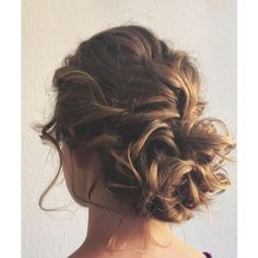 25 Chic Braided Updos for Medium Length Hair ❤ liked on Polyvore featuring hair