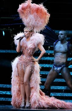 Kylie Minogue's Greatest Showgirl Outfits of All Time – theFashionSpot – english Costume Cabaret, Showgirl Costume, Vegas Showgirl, Burlesque Outfit, Burlesque Costumes, Carnival Costumes, Burlesque Clothing, Kylie Minogue, Vintage Burlesque